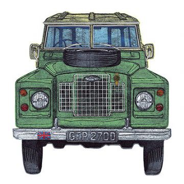 "BLANK CARD ""LAND ROVER"" LARGE SQUARE SIZE 6.25"" x 6.25"" 8851 EVEH"